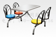 四座快餐桌椅